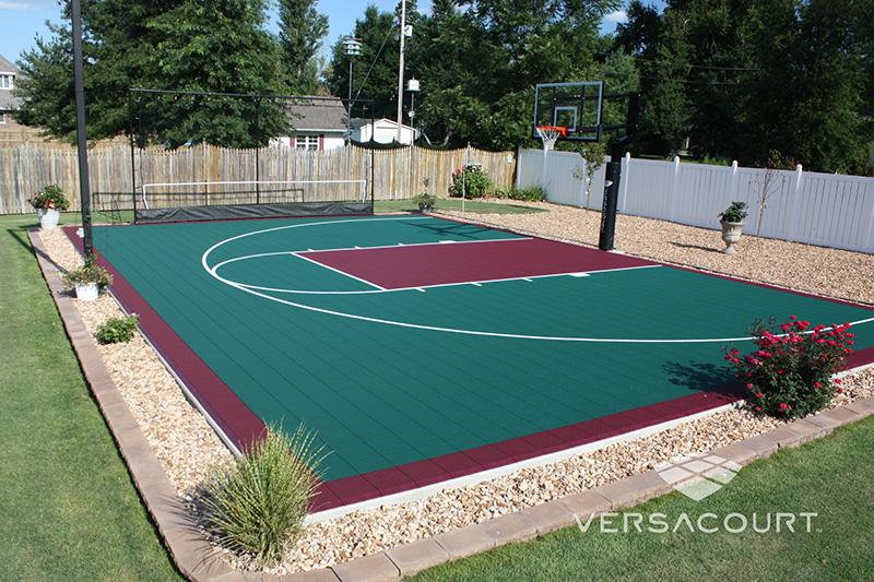 Versacourt canchas de b squetbol para exteriores for Backyard sports court