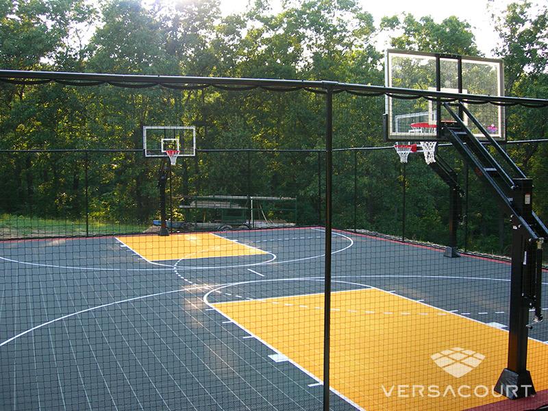 Im genes de canchas de b squetbol de versacourt for Personal basketball court